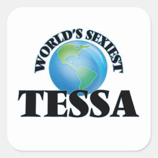 Tessa la plus sexy du monde sticker carré