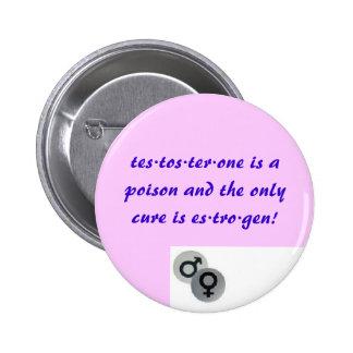 Testostérone contre l'oestrogène badge