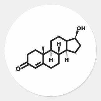 testostérone sticker rond