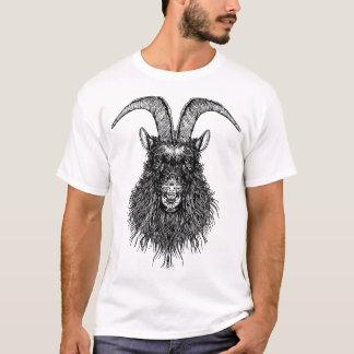 Tête à cornes de chèvre t-shirt