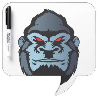 tête bleue de gorille tableau blanc effaçable à sec