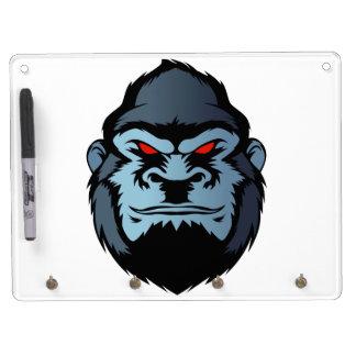 tête bleue de gorille tableau effaçable à sec