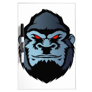 tête bleue de gorille tableaux effaçables à sec