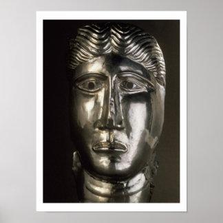 Tête d un homme Gallo-Romaine 2ème-3ème ANNONCE Posters