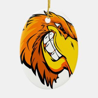 tête d'aigle ornement ovale en céramique