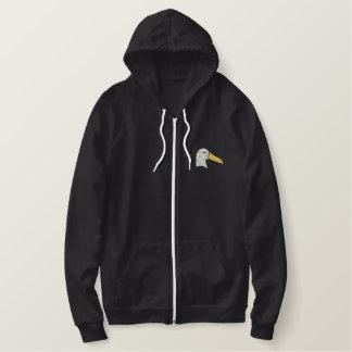 Tête d'albatros sweat-shirt molletonné brodé
