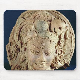 Tête d'Ardhanarisvara, Newal, Unnao (terre cuite) Tapis De Souris