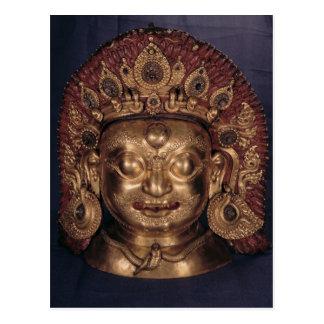 Tête de Bhairava, fin du 17ème siècle Carte Postale