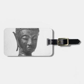 Tête de Bouddha - XVème siècle - la Thaïlande Étiquette À Bagage