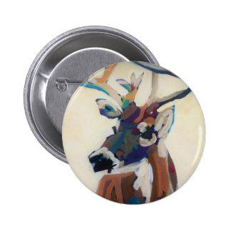Tête de cerfs communs badge