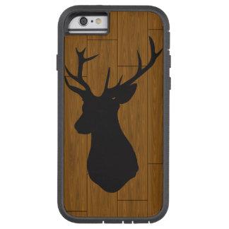 Tête de cerfs communs sur le bois coque iPhone 6 tough xtreme