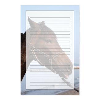 Tête de cheval de Brown Papier À Lettre Customisé