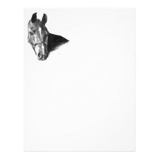 Tête de cheval de graphite prospectus customisé