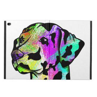 Tête de chien dalmatienne