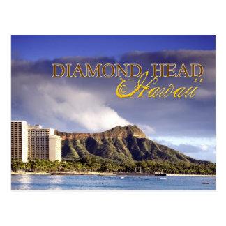 Tête de diamant, Honolulu, Hawaï Carte Postale