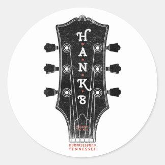 Tête de la guitare de Hank Sticker Rond