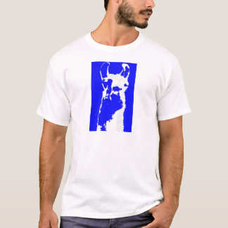 tête de lama dans le bleu marin t-shirt