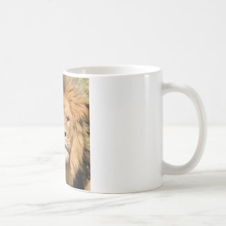 Tête de lions mug blanc