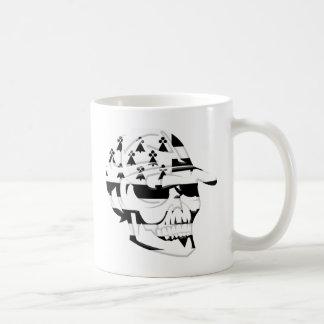Tête de mort Bretagne Mug Blanc