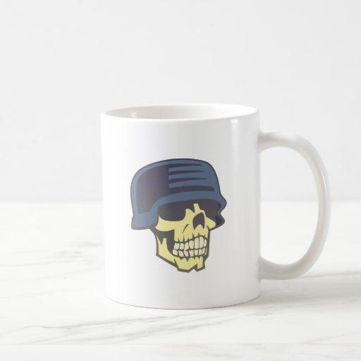 Tête de mort crâne casque skull helmet mugs à café