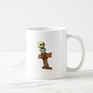 Tête de mort crâne croix skull croix mug blanc