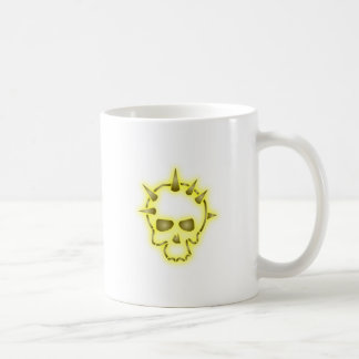 Tête de mort crâne dessus skull épis mug blanc