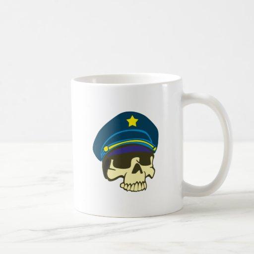 Tête de mort crâne général skull tasse à café