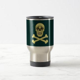 Tête de mort crâne os skull bones mug de voyage en acier inoxydable