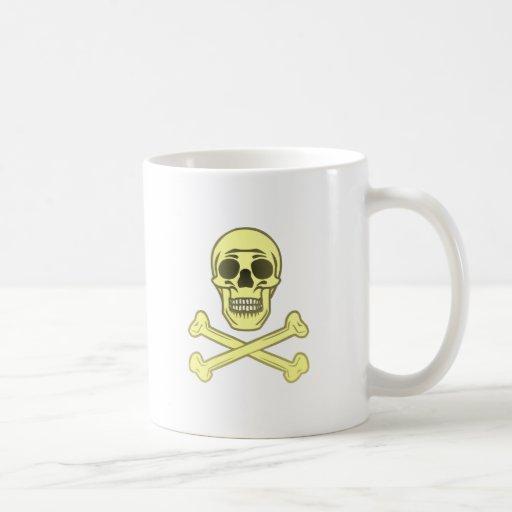 Tête de mort crâne os skull bones tasse à café