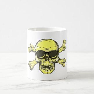 Tête de mort crâne os skull bones tasse