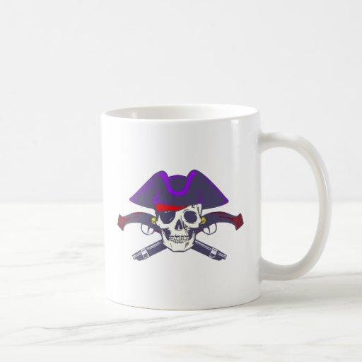 Tête de mort crâne pirate skull pirate tasses à café