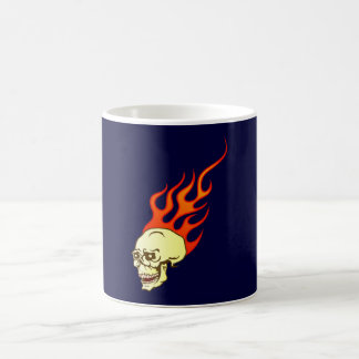 Tête de mort crâne skull flammes flames mug