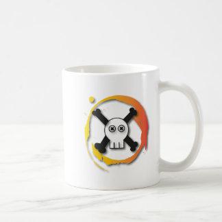 Tête de mort mug blanc