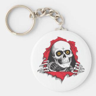 tete de mort porte-clé rond