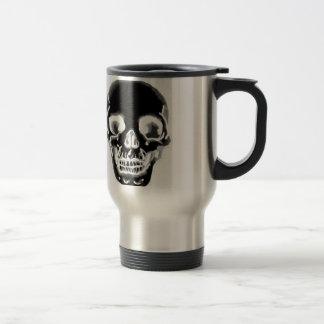 Tête de mort mug de voyage en acier inoxydable
