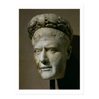 Tête de Philip l'empereur arabe et romain Carte Postale