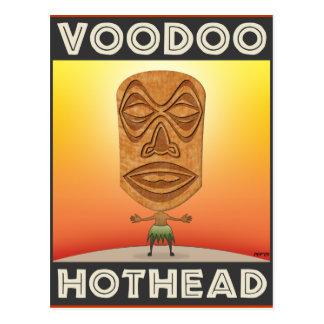 Tête de Tiki de vaudou Carte Postale