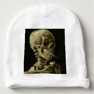 Tête de Vincent van Gogh d'un squelette avec la Bonnet De Bébé