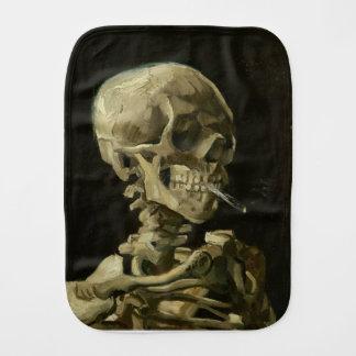 Tête de Vincent van Gogh d'un squelette avec la Linge De Bébé