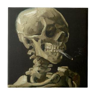 Tête de Vincent van Gogh d'un squelette avec la Petit Carreau Carré