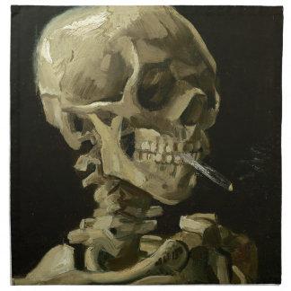 Tête de Vincent van Gogh d'un squelette avec la Serviettes