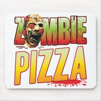 Tête de zombi de pizza tapis de souris