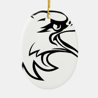 Tête d'Eagle de côté Ornement Ovale En Céramique
