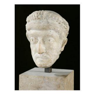 Tête d'empereur Theodosius II Carte Postale