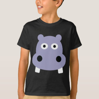tête d'hippopotame t-shirt