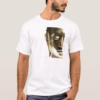Tête d'or de Bouddha T-shirt