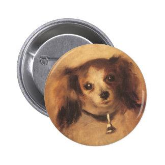 Tête d'un chien par Pierre Renoir, beaux-arts Pin's