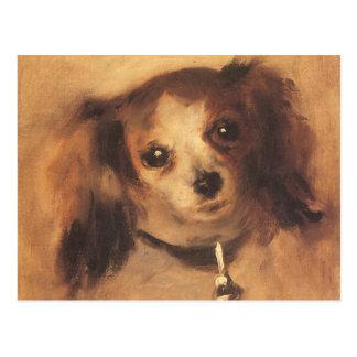 Tête d'un chien par Renoir, art vintage Carte Postale