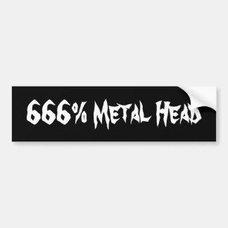 Tête en métal de 666% autocollants pour voiture