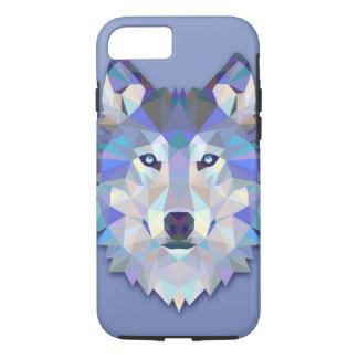 Tête géométrique de loup de LOUP EN CRISTAL Coque iPhone 7
